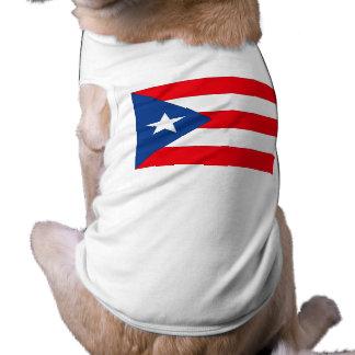 Bandera de Puerto Rico Camisa De Mascota