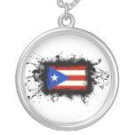 Bandera de Puerto Rico Colgante Redondo