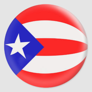 bandera de Puerto Rico de 20 pequeña pegatinas Pegatina Redonda