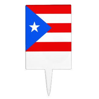 Bandera de Puerto Rico Decoración Para Tarta