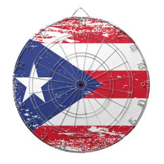 Bandera de Puerto Rico del Grunge Tabla Dardos