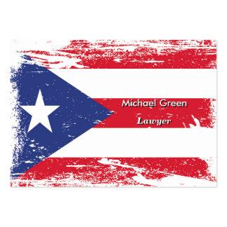 Bandera de Puerto Rico del Grunge Tarjetas De Visita Grandes
