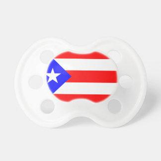 Bandera de Puerto Rico del pacificador del bebé Chupetes Para Bebés