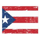Bandera de Puerto Rico del vintage Tarjetas Postales