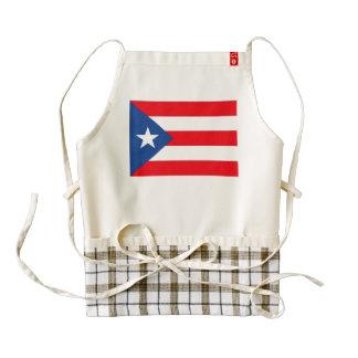 Bandera de Puerto Rico Delantal Zazzle HEART