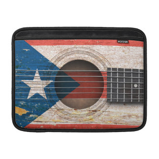 Bandera de Puerto Rico en la guitarra acústica Fundas MacBook