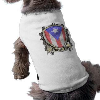 Bandera de Puerto Rico - escudo del escudo Playera Sin Mangas Para Perro