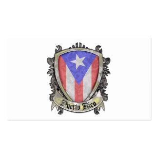 Bandera de Puerto Rico - escudo del escudo Tarjetas De Visita