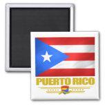 Bandera de Puerto Rico Imán Cuadrado