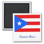 Bandera de Puerto Rico Imán Para Frigorifico