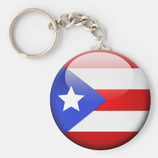 Bandera de Puerto Rico Llavero Redondo Tipo Pin