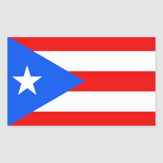 Bandera de Puerto Rico Rectangular Pegatina