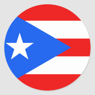 Bandera de Puerto Rico Etiquetas Redondas