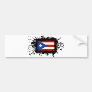 Bandera de Puerto Rico Pegatina Para Auto