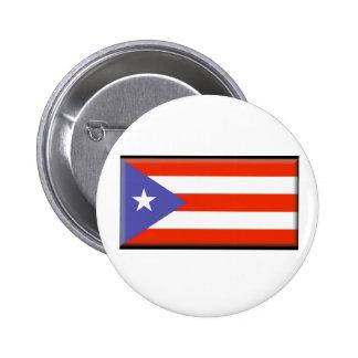 Bandera de Puerto Rico Pin Redondo 5 Cm