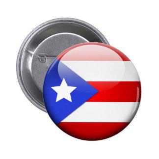 Bandera de Puerto Rico Pin Redondo De 2 Pulgadas