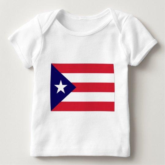 Bandera de Puerto Rico Playera De Bebé