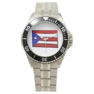 Bandera de Puerto Rico Reloj