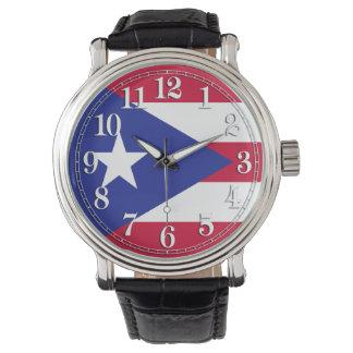 Bandera de Puerto Rico Relojes