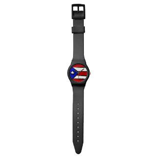 Bandera de Puerto Rico Relojes De Mano