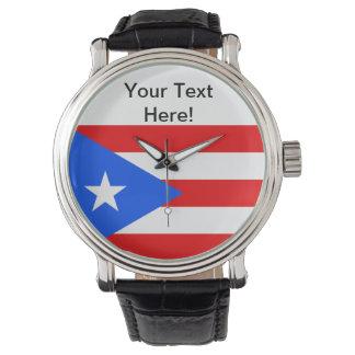 Bandera de Puerto Rico Relojes De Pulsera