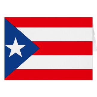 Bandera de Puerto Rico Tarjetón
