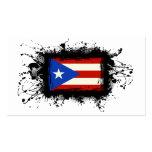 Bandera de Puerto Rico Plantillas De Tarjetas De Visita