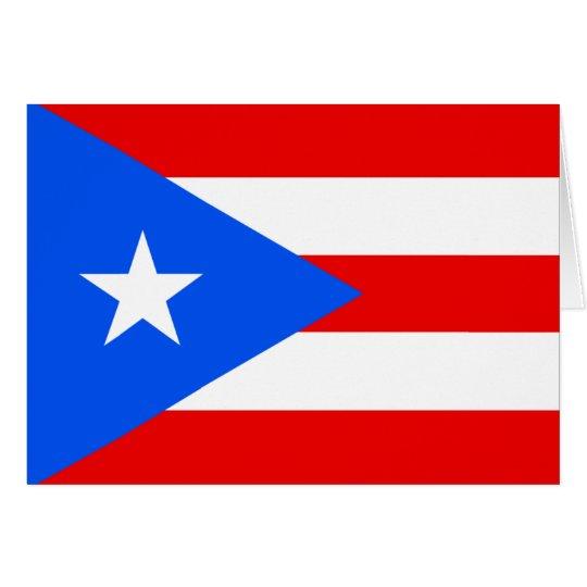 Bandera de Puerto Rico Tarjeta De Felicitación