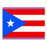 Bandera de Puerto Rico Tarjeta Postal