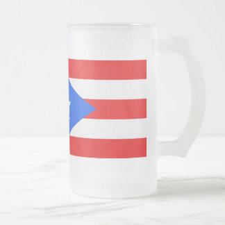 Bandera de Puerto Rico Taza De Cristal