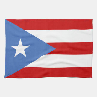 Bandera de Puerto Rico Toallas De Cocina