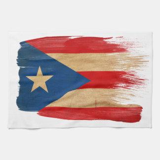 Bandera de Puerto Rico Toallas De Mano