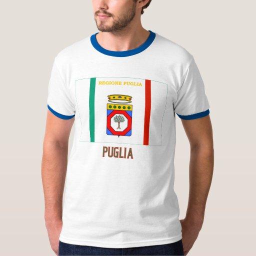 Bandera de Puglia con nombre Poleras