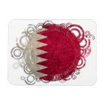 Bandera de Qatar; Círculos Iman De Vinilo