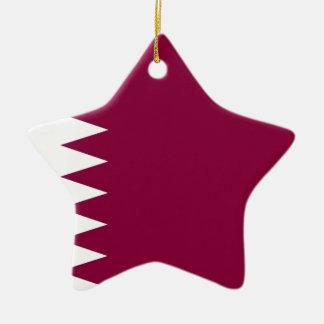 Bandera de Qatar Adorno De Cerámica En Forma De Estrella