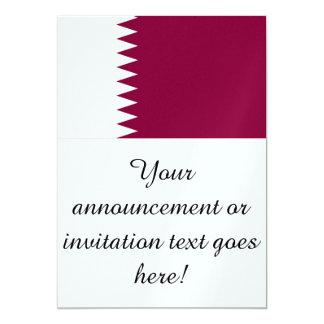 """Bandera de Qatar Invitación 5"""" X 7"""""""