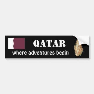 Bandera de Qatar + Pegatina para el parachoques de Etiqueta De Parachoque