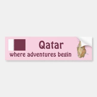 Bandera de Qatar + Pegatina para el parachoques de Pegatina Para Auto