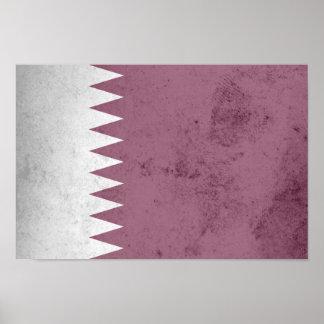Bandera de Qatar Póster