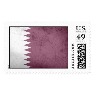 Bandera de Qatar Sellos Postales