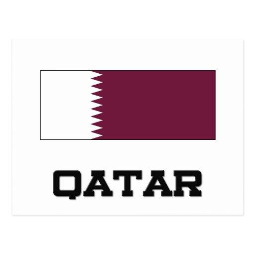Bandera de Qatar Tarjetas Postales