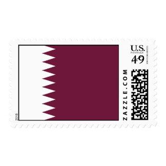 Bandera de Qatar Timbre Postal