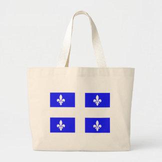 Bandera de Quebec Bolsa Tela Grande