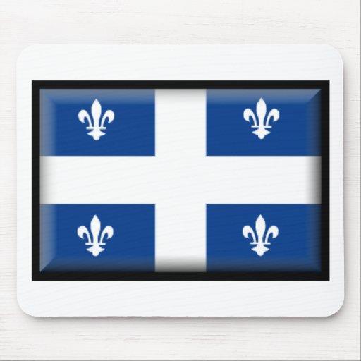 Bandera de Quebec (Canadá) Alfombrillas De Ratón
