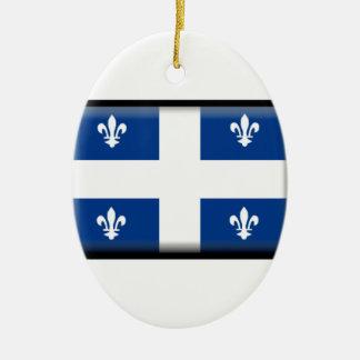 Bandera de Quebec (Canadá) Adorno Ovalado De Cerámica