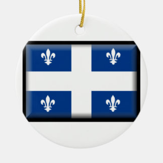 Bandera de Quebec (Canadá) Adorno Redondo De Cerámica