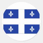 Bandera de Quebec, Canadá Pegatina Redonda
