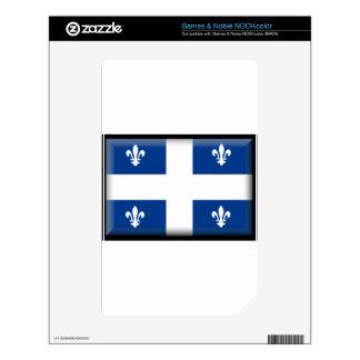 Bandera de Quebec (Canadá) Calcomanías Para NOOK Color