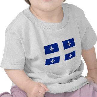 Bandera de Quebec - libre de Vive le Québec Camisetas