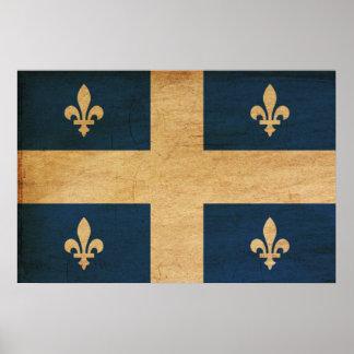 Bandera de Quebec Poster